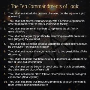 Ten Commandments of Logic